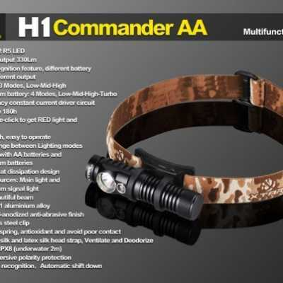 XTAR H1 G2 R5 COMMANDER AA HEADLAMP