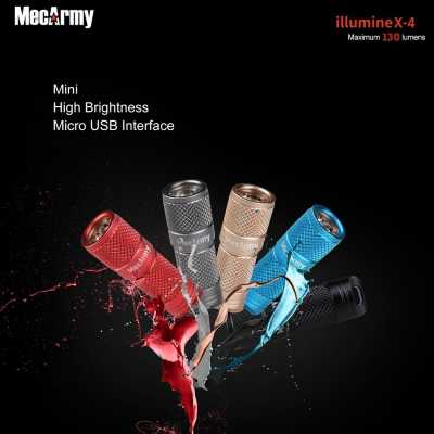 MecArmy illumineX -4 Al 130 Lumen Every Day Carry Key Chain