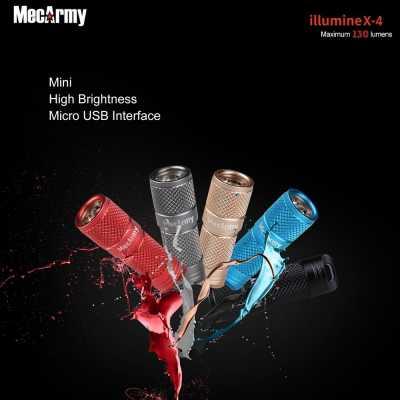 MecArmy illumineX -4 Al 130 Lumen Every Day Carry Key Chain