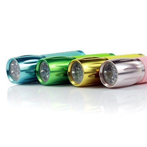 Multi color mini portable led flashlight 3xaaa (blue color ...