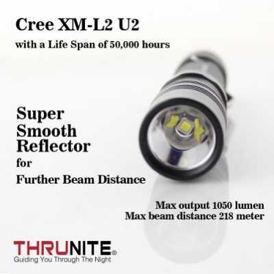 ThruNite TN12 2014 Edition 1050 Lumen Single CREE XM-L2 U2 LED EDC Flashlight, Neutral White Color: TN12 2014 Neutral White Model: TN12 2014