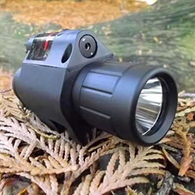 2-in-1 TLR-1 Combo Tactical CREE Q5 LED Flashlight / LIGHT 350LM + Red Laser Sight for Pistol / Gun Handgun Glock 17 19 22 20 23 31 37