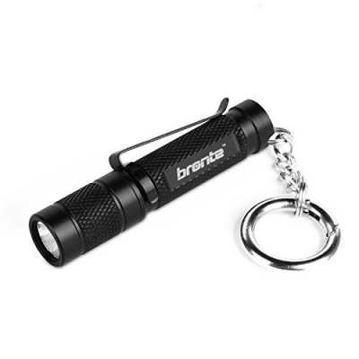 Bronte BT01 150 Lumen CREE XP-G2 LED Mini Keychain Flashlight with reversible clip, Powered by 1*AAA battery, IPX-8 Waterproof, 4 Modes from Firefly to Strobe