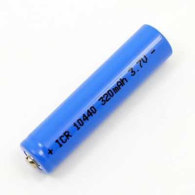 10440 Lithium Ion 3.7 AAA Battery Top view of batterie